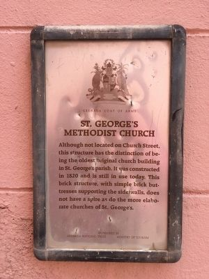 St. George's Methodist Church Marker image. Click for full size.
