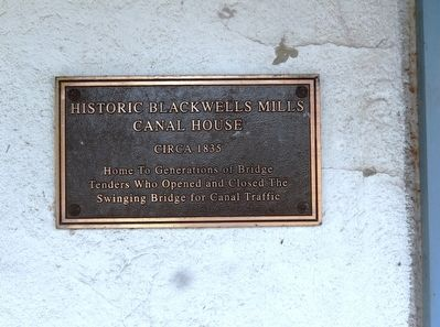Blackwells Mills Canal House Marker image. Click for full size.