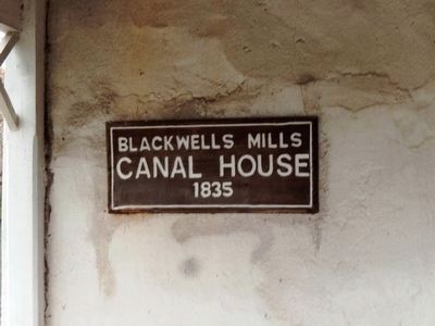 Blackwells Mills Canal House 1835 image. Click for full size.