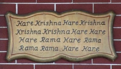 Iskcon Krishna House Marker image. Click for full size.