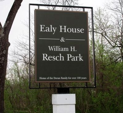 George and Christina Ealy House and Land Marker image. Click for full size.