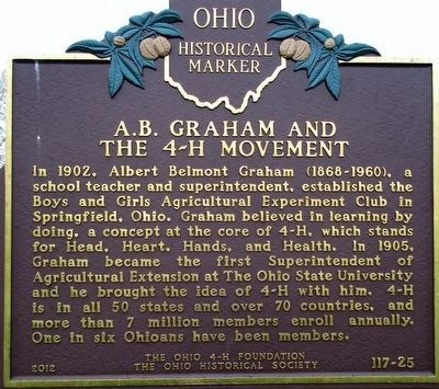 A. B. Graham and the 4-H Movement Marker image. Click for full size.