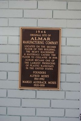 Original Site of Almar Manufacturing Company Marker image. Click for full size.