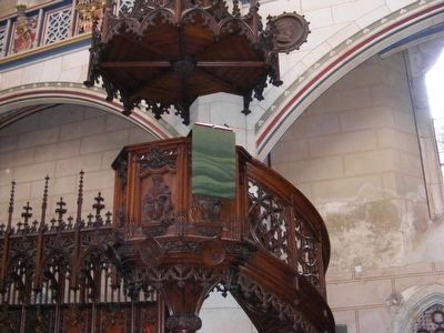 Castle Church in Wittenberg Pulpit image. Click for full size.