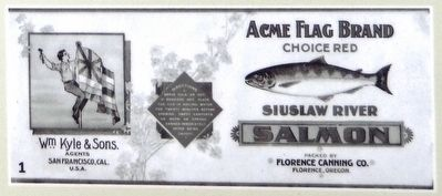 Marker Photo Detail: Canned salmon label image. Click for full size.