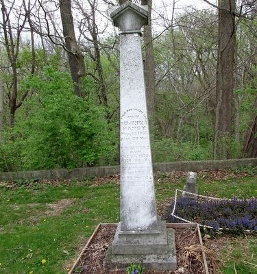 Benjamin Russell Hanby tombstone image. Click for full size.