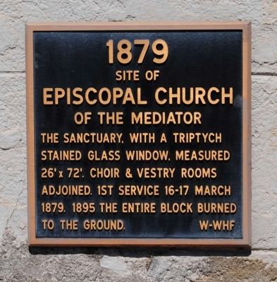 Site of the Episcopal Church of the Mediator Marker image. Click for full size.