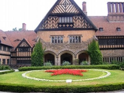 Cecilienhof Palace-inside the courtyard image. Click for full size.