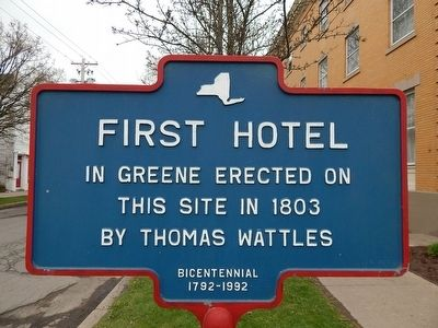 First Hotel Marker image. Click for full size.