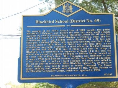 Blackbird School (District No. 69) Marker image. Click for full size.