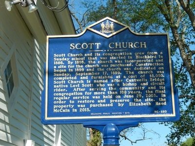 Scott Church Marker image. Click for full size.