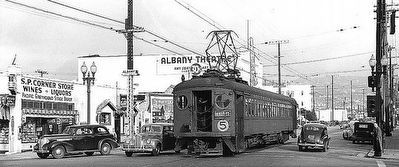 Streetcar in Albany, just south of El Cerrito image. Click for full size.