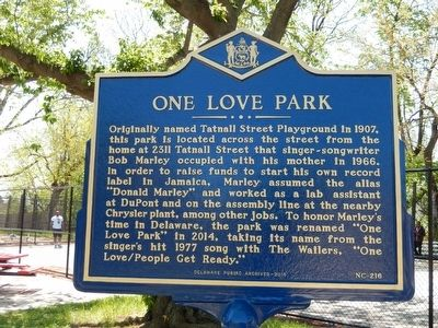 One Love Park Marker image. Click for full size.