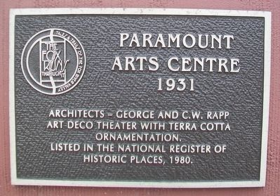 Paramount Theatre Marker image. Click for full size.