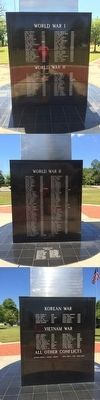 Covington County War Memorial (North, East and South Sides) image. Click for full size.