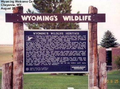 Wyoming's Wildlife Heritage Marker image. Click for full size.