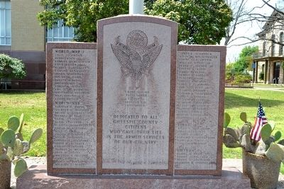 Gillespie County Armed Services Memorial image. Click for full size.