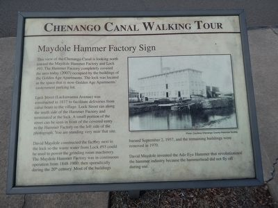 Chenango Canal Walking Tour Marker image. Click for full size.