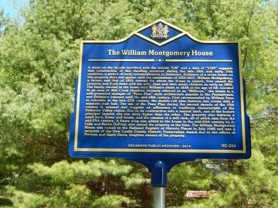 The William Montgomery House Marker image. Click for full size.