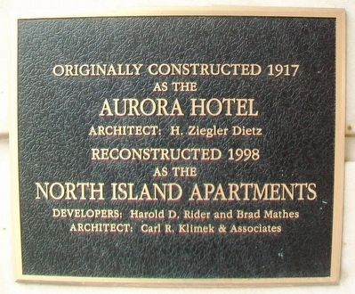 Aurora Hotel Marker image. Click for full size.