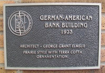 German-American Bank Building Marker image. Click for full size.