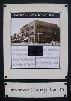 American National Bank Marker image. Click for full size.