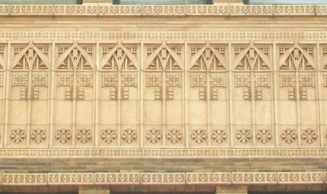 American National Bank Terra Cotta Detail image. Click for full size.