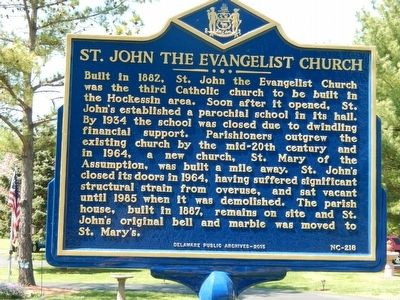 St. John The Evangelist Church Marker image. Click for full size.