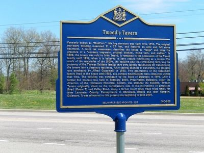 Tweed's Tavern Marker image. Click for full size.