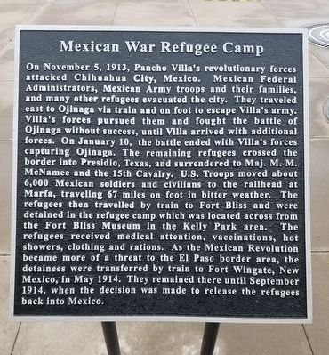 Mexican War Refugee Camp Marker image. Click for full size.