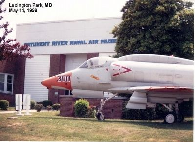 Patuxent River Naval Air Museum-building entrance image. Click for full size.