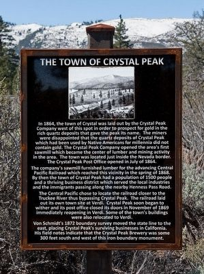 The Town of Crystal Peak Marker image. Click for full size.