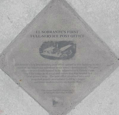 El Sobrante's First Full-service Post Office Marker image. Click for full size.