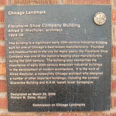 Florsheim Shoe Company Building Marker image. Click for full size.