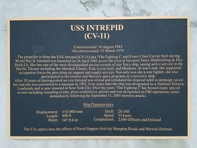USS Intrepid (CV-11) Marker image. Click for full size.