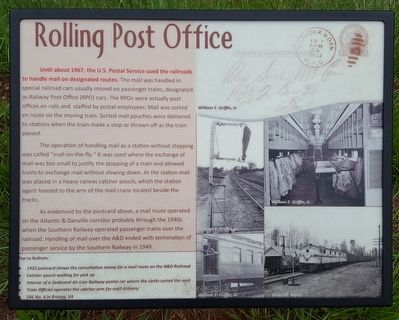 Rolling Post Office Marker image. Click for full size.