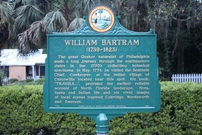 William Bartram Trail Restored Marker image. Click for full size.