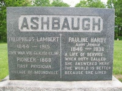 Theophilus Lambert Ashbaugh Marker image. Click for full size.