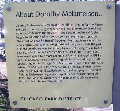 Melamerson Athletic Field Marker (Side B) image. Click for full size.