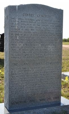 Trap Crossing Cemetery - Coffey Cemetery - Gann Family Cemetery Marker image. Click for full size.