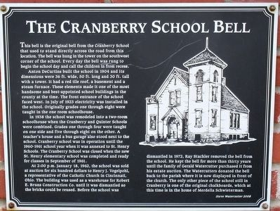 The Cranberry School Bell Marker image. Click for full size.