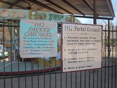 1912 Parker Carousel Marker and Safety Instructions image. Click for full size.