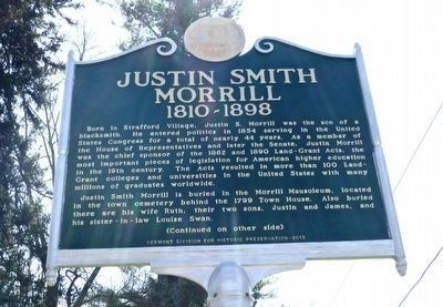 Justin Smith Morrill Marker image. Click for full size.