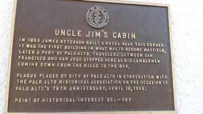 Uncle Jim�s Cabin Marker image. Click for full size.