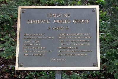 Lemoyne Diamond Jubilee Grove marker image. Click for full size.