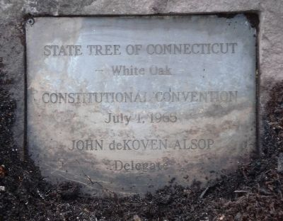 Charter Oak descendant Marker image. Click for full size.