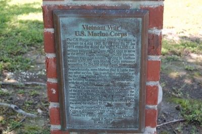 Vietnam War U.S. Marine Corps Marker image. Click for full size.