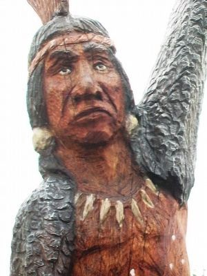 American Indian - Potawatomi Tribe Eagle Dancer Detail image. Click for full size.
