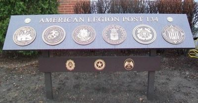 American Legion Post 134 Memorial Marker image. Click for full size.