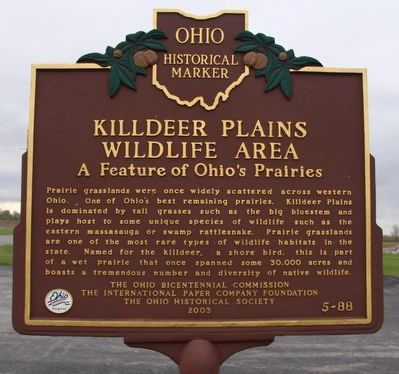 Killdeer Plains Wildlife Area Marker image. Click for full size.